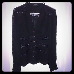 Bebe blouse w/ lace